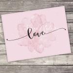Открытка-комплимент «Love», размер 8х6см, OT000004