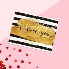 Открытка-комплимент «Love you», размер 8х6см, OT000005