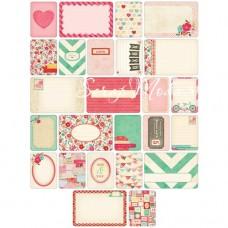 Карточки журналинга для проекта Project Life — Love.  Набор из 40 карточек.архивное качество.  American Crafts, PL000001
