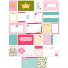Карточки журналинга для проекта Project Life — Princess.  Набор из 40 карточек. American Crafts, PL000003