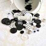 Набор пуговиц Черно-Белые, 80 шт., Basic Grey, PU000135