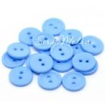 Пуговицы Baby Boy, пластик, голубой цвет, размер 15 мм., пуговица на два прокола, цена за 10 шт., PU000142
