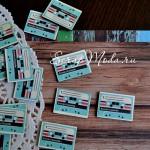 Деревянная пуговица Компакт-кассета, 21х29 мм., цена за 1 шт., 2 прокола, PU000147