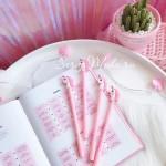 Ручка гелевая, Единорог, розовая, стержень черный 0,5мм., 18 см., RC000004