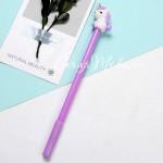 Ручка гелевая, Единорожка, сиреневая, стержень черный 0,5мм., 18 см., RC000005