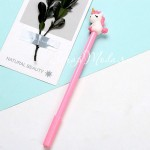 Ручка гелевая, Единорожка, розовая, стержень черный 0,5мм., 18 см., RC000009