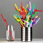 Пластиковые веселые яркие трубочки для праздничного стола!  длина 260 мм., 18 шт.,  непредсказуемый микс, RP000001