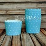 Бумажные стаканчики для капкейков и маффинов Polka Dot Baby Boy. PR000002