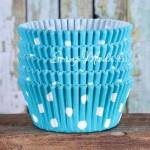 Бумажные гофрированные формы для выпечки горох белый на голубом фоне, 12 шт., Dolce Arti, RP000036