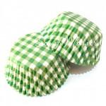 Бумажные гофрированные формы для выпечки салатовая клетка, 12 шт., Dolce Arti, RP000041