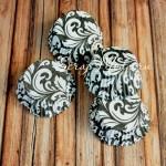Бумажные гофрированные формы для выпечки черно белый Узор, 12 шт., Dolce Arti, RP000044