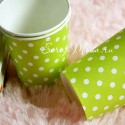 Бумажные стаканчики Polka Dots, салатовые, 225мл., 6 шт., RP000078