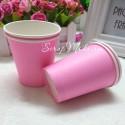 Бумажные стаканчики розовые, 225мл., 6 шт., RP000079