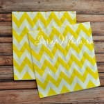 Салфетки бумажные Chevron, желтые на белом фоне, размер 33х33 см., цена за 20 шт., RP000084