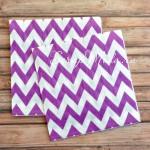 Салфетки бумажные Chevron, фиолетовые на белом фоне, размер 33х33 см., цена за 20 шт., RP000085