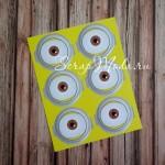 Наклейки Миньон глаз, размер листа 120х155 мм., PR000089