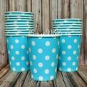 Бумажный стаканчик Polka Dot Baby Boy, 225мл., цена за 1 шт. RP000099