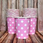Бумажный стаканчик Polka Dot Baby Girl, 225мл., цена за 1 шт. RP000101