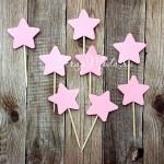 Шпажки Star розовые, звездочка 4 см., 8 шт., RP000108