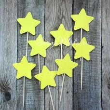 Шпажки Star жёлтые, звездочка 4 см., 8 шт., RP000109