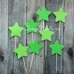 Шпажки Star зелёные, звездочка 4 см., 8 шт., RP000110