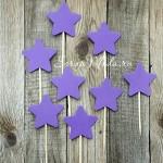 Шпажки Star фиолетовые, звездочка 4 см., 8 шт., RP000111