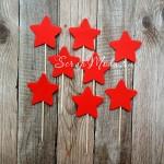 Шпажки Star красные, звездочка 4 см., 8 шт., RP000113