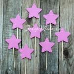 Шпажки Star ярко-розовые, звездочка 4 см., 8 шт., RP000114