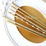 Бумажные трубочки Gold Mix, размер 19,5х0,55 см., 6 шт., RP000120