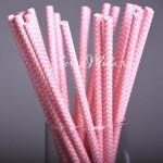 Бумажные Chevron, цвет розовый с белым, 6 шт., RP000139
