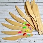 Деревянные ножи, размер 16х2,2 см., 6 шт., экологическое дерево, RPL00023