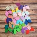 Листья Mix, плотный картон, размер 38-45 мм., 25 шт. RU000056