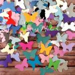 Бабочки Mix, плотный картон, размер 5 см., 45-50 шт., RU000058