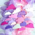 Вырубка  Облака Baby Girl Mix, плотный картон, цена за 22 шт., RU000071