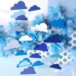 Вырубка  Облака Baby Boy Mix, плотный картон, цена за 22 шт., RU000072