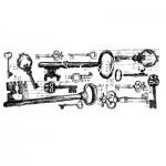 Штамп Keys, 50х130 мм., Kaiser Craft, SH000252