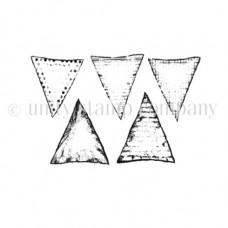 Штамп резиновый на пенной основе, Tiny Vintage Banners 342, Unity Stamp Company