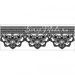 Штамп Текстура Clear- Scallop Lace 378, 50х130 мм., Kaiser Craft
