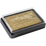 Штемпельная подушечка Gold Metallic, размер 55х85 мм.,  American Crafts. SH000432