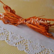 Рафия хамелеон Оранжевая, длина 1 метр, 10 гр., SN000035
