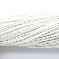 Вощеный шнур Белый, 1 мм., цена за 1 метр, SN000042