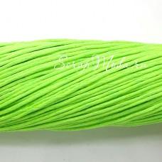 Вощеный шнур Салатовый, 1 мм., цена за 1 метр, SN000043