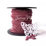 Цепочка металлическая декоративная, розовая, размер 4,4х3 мм., цена за 0,5 метр SN000056