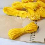 Бумажный Шнур, Желтый, толщина 2 мм., 10 м.