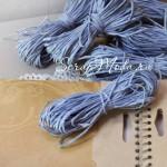 Бумажный Шнур, Сине-Сиреневый, толщина 2 мм.,  10 м.