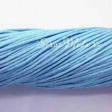 Вощеный шнур Небесно-голубой, 1 мм., цена за 1 метр, SN000134