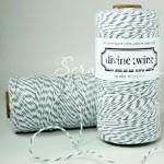Шнур двухцветный,  хлопковый бело-серый, 2 мм., цена за 1 метр, SN000149