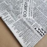 Ткань Newspaper, отрезок 52х70 мм.
