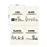 Ткань 34, Food - Save the earth illust cut, размер отреза ткани 88х150 см., натуральный лен