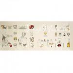 Ткань 49,  A Girl Travelling Alone - Handmade on Show, размер отреза ткани 38х110 см., Натуральный лен